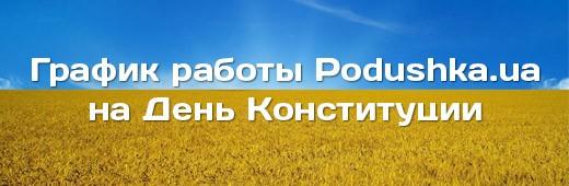 График работы Podushka.ua на день Конституции!