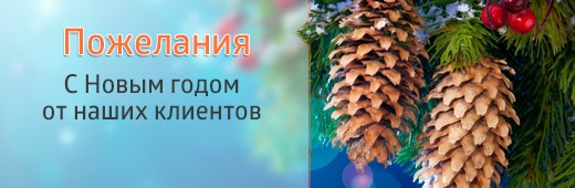 Пожелания с новым годом от наших клиентов :)